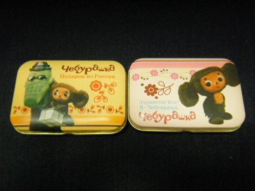 チェブラーシカ チョコ入り  ミニ缶 2種