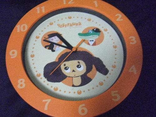 チェブラーシカ 時計 大 オレンジ