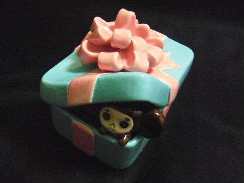 チェブラーシカ プレゼント小物入れ 陶器製