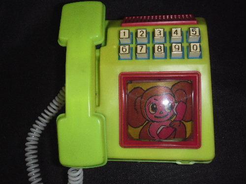 チェブラーシカ 旧ソ連 電話のおもちゃ