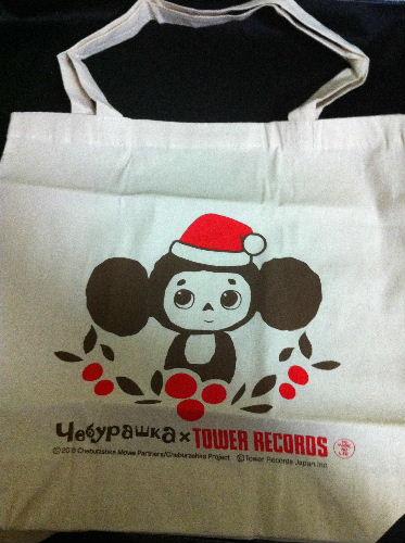 チェブラーシカ エコバック~TOWER RECORDS 限定